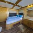 The double bed cabin is located on the upper deck