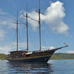 The WAOW liveaboard, at anchor off Komodo