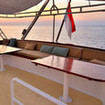 Sulawesi liveaboard, MY Pelagian offers numerous open air seating options