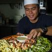 Chef prepared meals while diving Indonesia