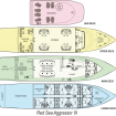 Layout of the decks of Red Sea Aggressor III