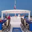 Al fresco Caribbean dining on the Cayman Aggressor V's sun deck