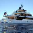 Stern view of the M/Y Nirvana