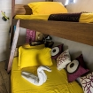 Standard twin bunk bed cabin on Ambai's lower deck