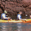 Kayaks are available for guests during Ecoventura Galapagos cruises in Ecuador