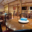 M/Y Cassiopeia's dining area