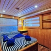 Comfortable double bed cabin