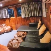 The air-conditioned saloon on board Manta Queen 8