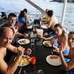 Al fresco lunch between awesome Indonesian dives