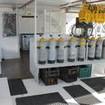 The Southern Sport's well organised dive deck