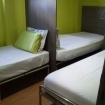 Economy cabin with 1 double and 2 single beds