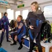 Kitting up on the dive deck in the Maldives on MY Manthiri
