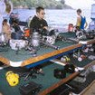 The dive deck camera table onboard Cocos liveaboard Okeanos Aggressor I