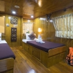 Master cabin in twin bed configuration