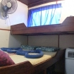Standard double bed cabin onboard the Miss Moon liveaboard