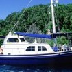 Ocean Hunter I at anchor in Palau