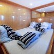 MY Heaven Freedom's honeymoon suite cabin situated on the upper deck