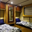 Standard twin bed cabin aboard the Andromeda