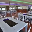 MV Soleil II's enormous dining/saloon area