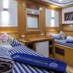 Twin bed cabin on the lower deck