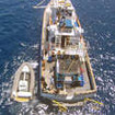 Aerial view of the MV Islander liveaboard
