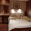 Deluxe double bed cabin aboard the liveaboard, Emperor Raja Laut