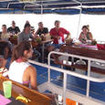 M/V Andaman Tritan's dive briefing on the open air dining deck