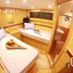 A lower deck twin bed cabin