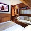 Superior double bed cabin accommodations