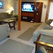 The homely saloon onboard the MV Southern Sport