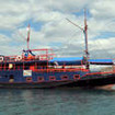 Komodo Floating Hostel run by Wicked Diving, unusual among Indonesian liveaboards