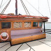 Upper deck of this Raja Ampat liveaboard