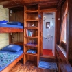 Superior bunk bed cabin accommodation during your Indonesian diving charter