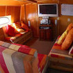 The saloon on the Mexican Sea Escape liveaboard
