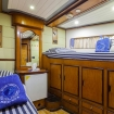 Lower deck twin cabin in bow