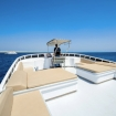 The inviting sun deck affords magnificent views of the Red Sea