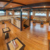 The roomy and stylish main deck saloon area