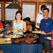 Liveaboard dining with the Belize Aggressor IV