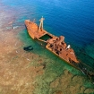 One of the wrecks in the Bay islands