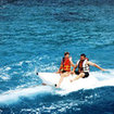 The Banana boat is a fun tourist activity in Bali