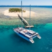 The sleek sailing catamaranm Fiji One