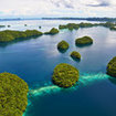 The beautiful islands of Palau in the Pacific Ocean