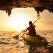 Sea kayaking is popular off the coast of Krabi