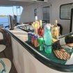 The refreshments bar of the Avalon I liveaboard boat