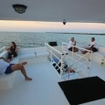 Relax on the upper deck of the Avalon II dive tour boat