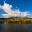 Coastal scene from the Indonesian island of Sumbawa