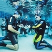 Pool training during the PADI Open Water Diver Course