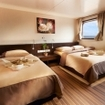 Liveaboard accommodation on these cruises