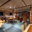 The saloon of Australian liveaboard, Princess II