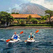 Sea kayaking at the Dive Terminal Resort in Tulamben, Bali